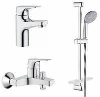 Набір змішувачів GROHE Bau Flow 121624 (ванна+умивальник))
