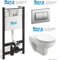 Інсталяція Roca з підвісним унітазом Roca Victoria + кришка + кнопка