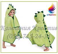 Детское полотенце-пончо с капюшоном (под заказ от 30-50 шт.)