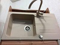 Кухонная мойка Laveo MADAGASKAR 78x44 SGQ 411T беж + смеситель кухонный беж