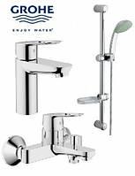 Набір змішувачів GROHE Bau Loop 123214 (ванна+умивальник)