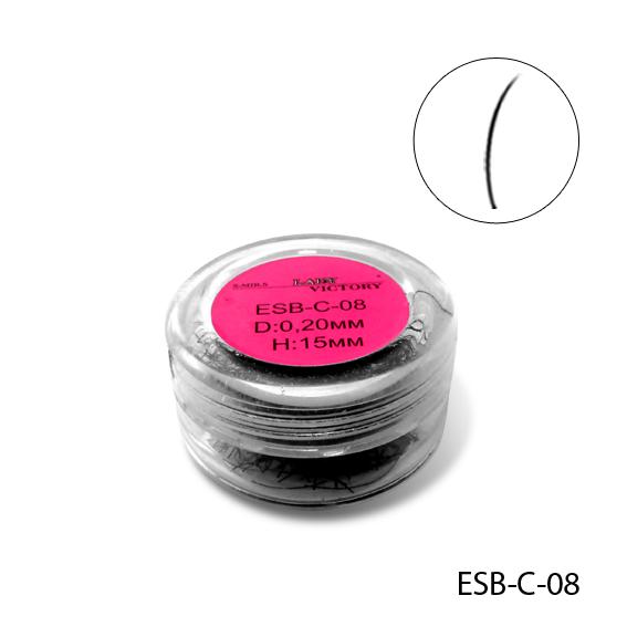 Ресницы в банке используемые для поресничного наращивания, ESB-C-08