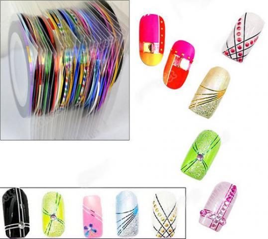 Лента для дизайна ногтей, 30 шт