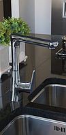 Змішувач для кухні, вертикальний Invena LUX ROTONDA CHROM, фото 1