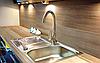 Змішувач для кухні, вертикальний Invena VERSO, стоячий з виливом LUX