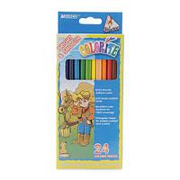 """Карандаши цветные длинные """"MARCO"""" №1100-24CB Colorite (24 цвета)"""