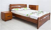 Полуторная кровать с изножьем из массива бука Каролина