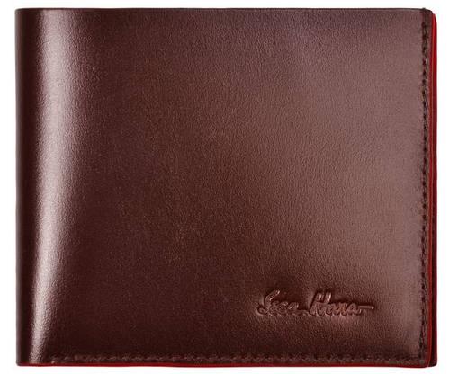 Надежный мужской кошелек без застежки, кожаный ISSA HARA WB5 (02-00)