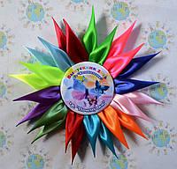 Значки для детского сада группы Почемучки с розеткой Радуга