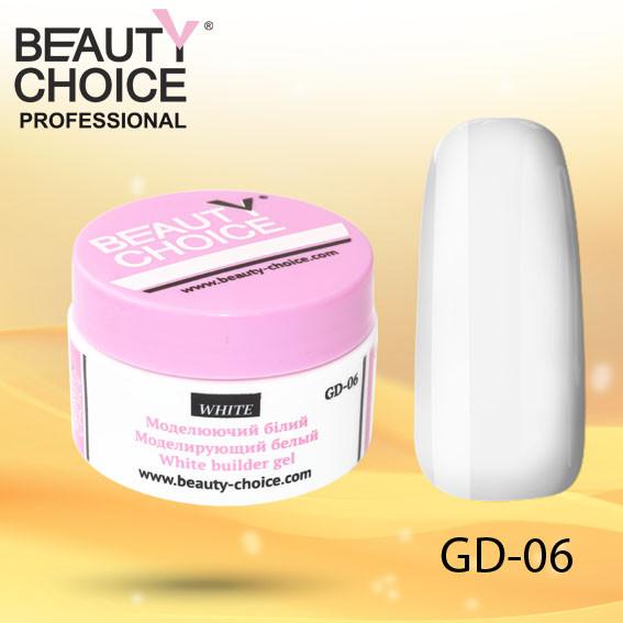 "Моделирующий гель ""Белый"", Beauty Choice, GD-06, 14 мл"
