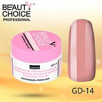 """Камуфлирующий гель """"Пастельно-розовый"""", Beauty Choice, GD-14, 14 мл"""