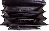 Мужской вертикальний портфель на  отделения, фото 3