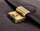 Мужской вертикальний портфель на  отделения, фото 5