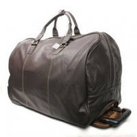 Большая дорожная сумка с колёсиками из кожи, фото 1