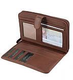 Класичний шкіряний гаманець-клатч, фото 4