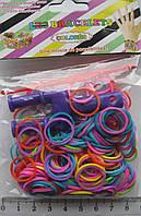 """Резинки для плетения браслетов с крючками для соединения и """"рогаткой"""" для плетения"""