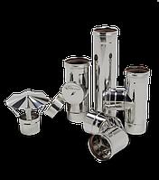 Дымоход для твердотопливного котла 0,8 мм d=160 мм, фото 1