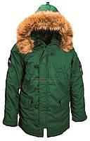 Мужская зимняя куртка аляска Altitude Parka Alpha Industries (зеленая)