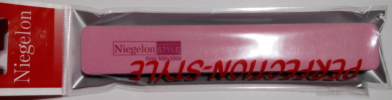 Полировщик Niegelon двухсторонний розовый, 600/3000