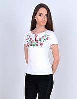 Женская футболка вышиванка белого цвета