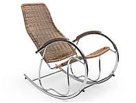Кресло-качалка BEN коричневый Halmar
