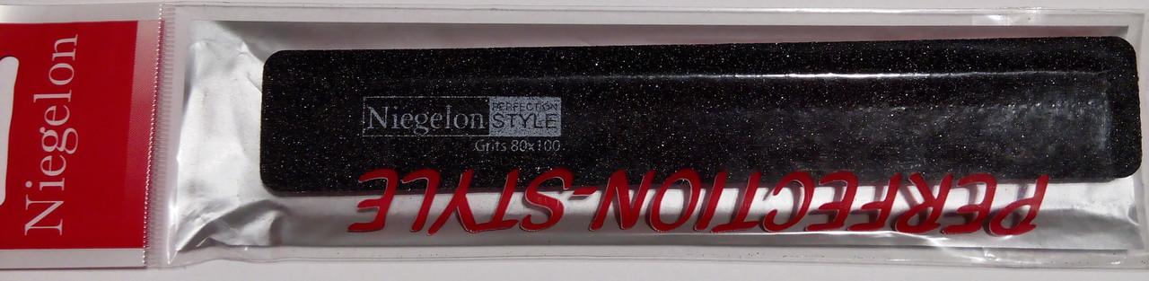 Пилочка  Niegelon широкая, прямая, черная. 80/100