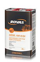 Моторное полусинтетическое масло Rovas Diesel 10W-40 B4 (4л)/ для легковых автомобилей
