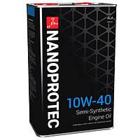 Полусинтетическое моторное масло NANOPROTEC ENGINE OIL 10W40  4L