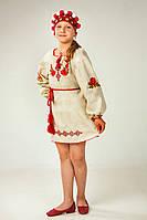 Красивое детское платье из лёна