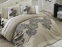 Постельное белье сатин  Cotton Box 200х220 MAHPEYKER KAHVE