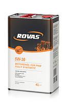 Моторное масло Rovas 5W-30 (4л)/ для бензиновых и дизельных двигателей легковых авто