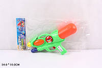 """Водяное оружие с накачкой 34см 2212-2 """"Angry birds"""", водный бластер 16*34см, детское водяное оружие"""