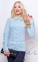 Женская рубашка с нарядным воротником 2057