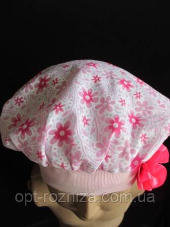 Красивый беретик розовый на девочку