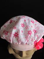 Красивый беретик розовый на девочку, фото 1