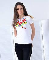 Вышиванка Маковое ожерельеМодная футболка в роскошный цветочный орнамент