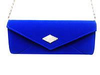 Женская сумка клатч 6349  синий велюровый