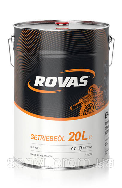 Трансмиссионное масло Rovas  EP 80W (20л)/универсальное для легковых и грузовых автомобилей