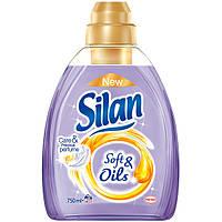 Ополаскиватель для белья Silan Soft&Oils лиловый, 750 мл