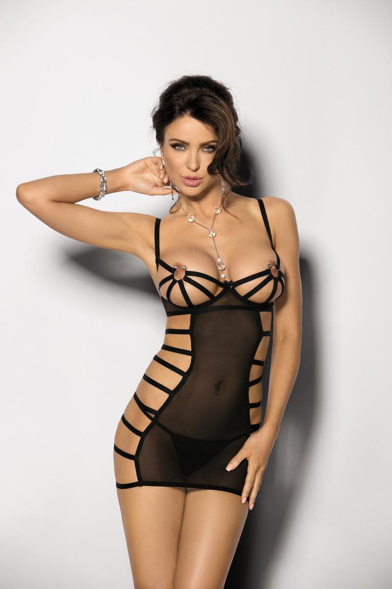 Сексуальное платье сетка (пеньюар) Mistra Ans