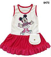 Летнее платье Minnie Mouse с сумочкой для девочки. 1, 3 года