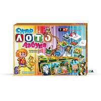 Настольная игра Супер лото+азбука Danko toys ЛА 2
