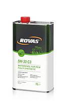 Моторное масло Rovas 5W-30 C3 (1л)/ для бензиновых и дизельных двигателей легковых авто