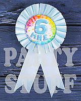 Детская медаль на день рождения Мне 6, голубая