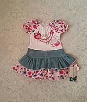 Летнее платье для маленьких девочек Малиновый цветочек