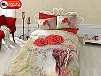 Постельное белье Cotton box Ранфорс Floral Seri 3D GRETA KIRMIZI