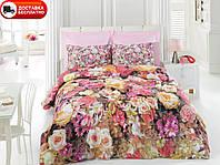 Постельное белье Cotton box Ранфорс Floral Seri 3D LARA PEMBE
