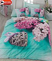 Постельное белье Cotton box Ранфорс Floral Seri 3D FLORA TURKUAZ