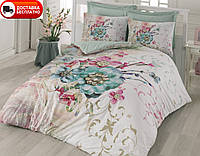 Постельное белье Cotton box Ранфорс Floral Seri 3D NORMA TURKUAZ