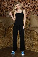 Льняные брюки женские черные